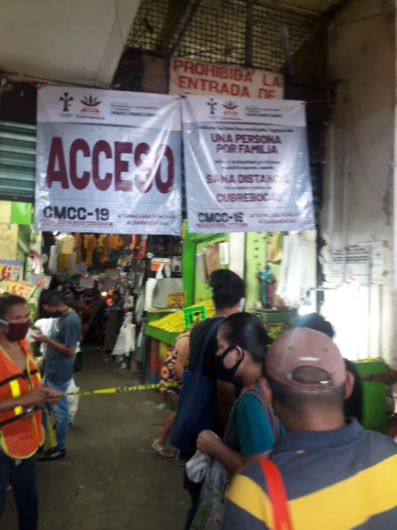 Refuerzan medidas sanitarias en el mercado Adolfo López Mateos de Cuernavaca