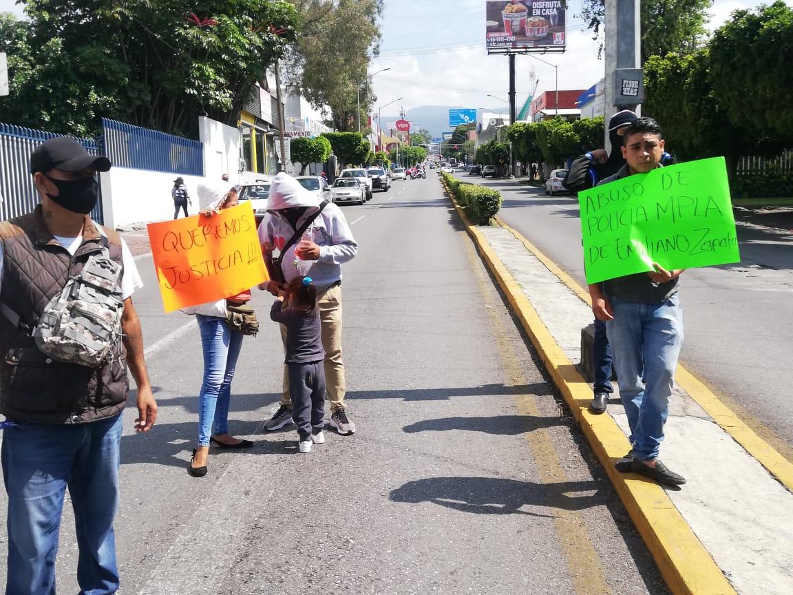 Habitantes de municipio de Emiliano Zapata se manifestaron para exigir la liberación de un hombre