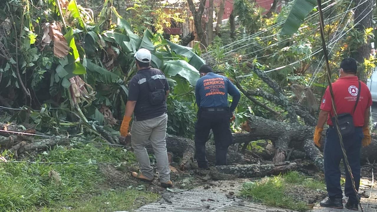 Fuertes lluvias ocasionan daños en varios municipios de Morelos