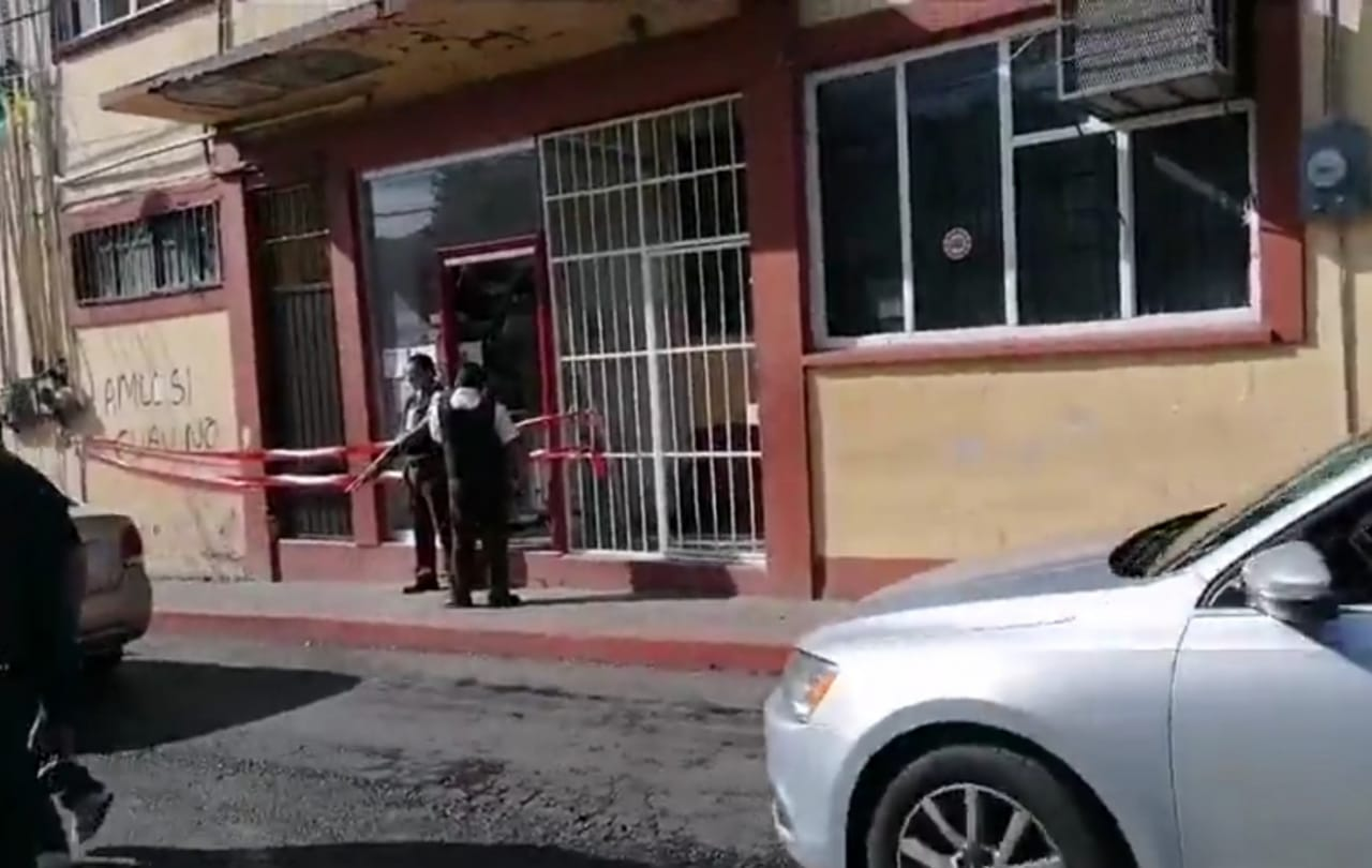 Sujetos roban cajero automático y provocan estragos cerca del Ayuntamiento de Jiutepec