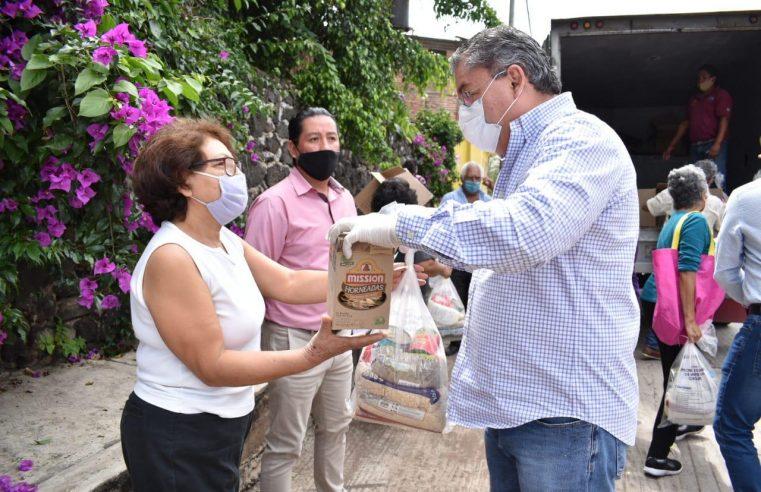 Rafael Reyes comunico que se iniciara un programa de abasto alimentario para familias afectadas por crisis económica