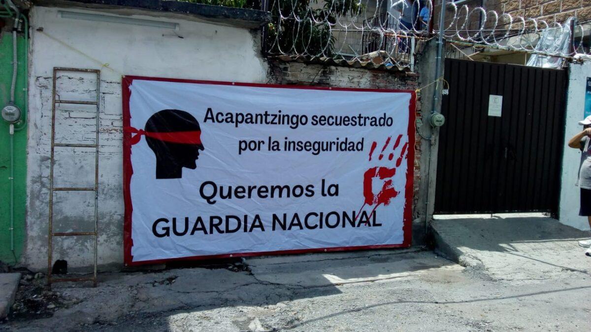 Vecinos de Acapatzingo, urgen entrada de GN por inseguridad