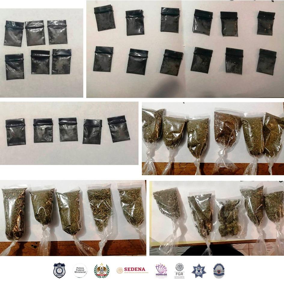 Captura la PIC a seis personas en poder de droga en Zacatepec