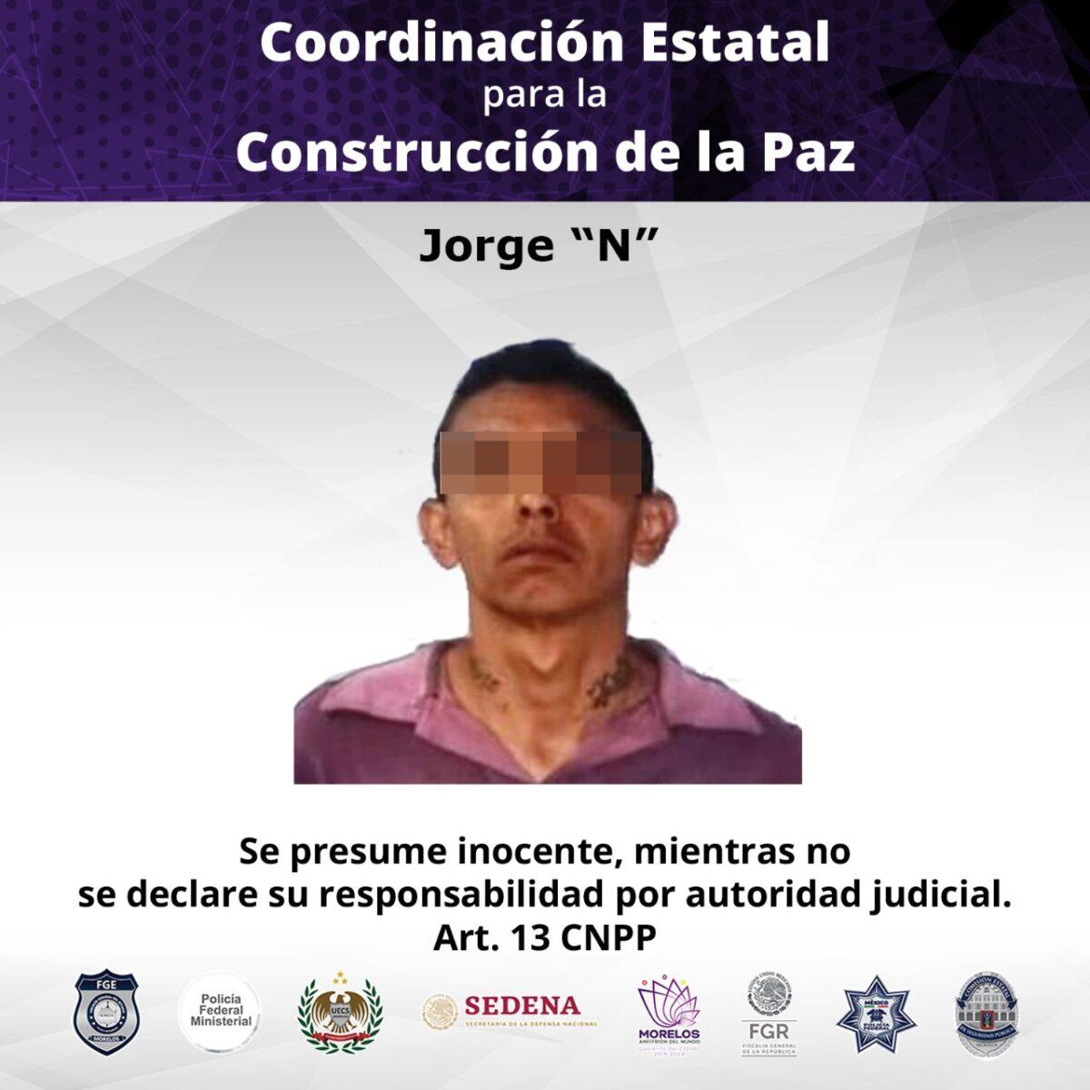 Narcomenudista detenido en Tlaltizapán es condenado a prisión