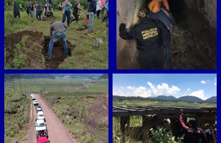 Reanudan trabajos de excavación para localizar a personas desaparecidas