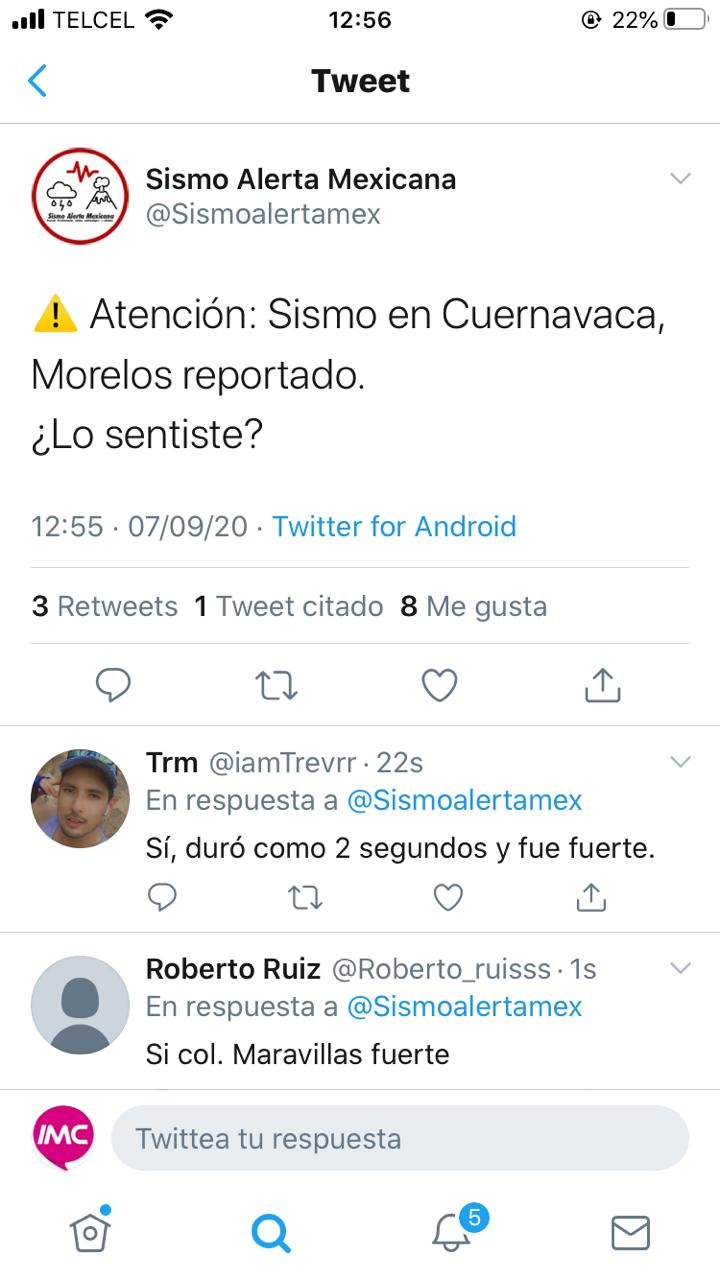 Se registra temblor en Cuernavaca
