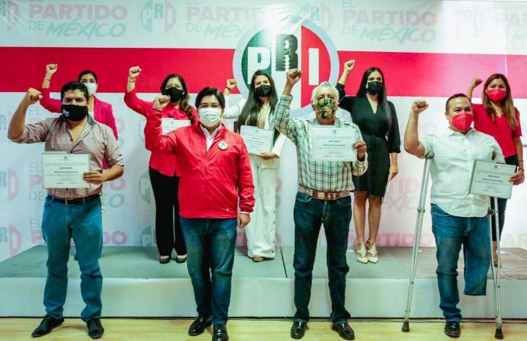 Reciben constancias las y los candidatos a diputados locales por el PRI en Morelos